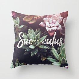 Succulus! Throw Pillow