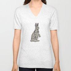Rabbit2 Unisex V-Neck