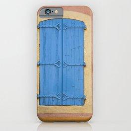Blue window shutters iPhone Case