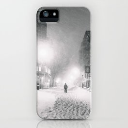 Alone in a Blizzard - New York City iPhone Case