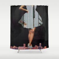 vogue Shower Curtains featuring Rustic Vogue by Leah Moranville
