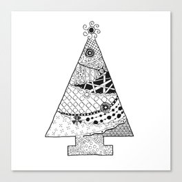 Doodle Christmas Tree Canvas Print