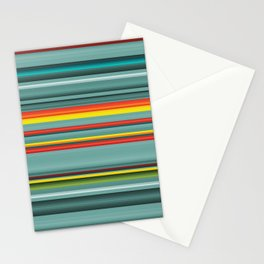 Southwestern teal and orange pattern Stationery Cards