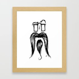 Blackie Beardy Face Framed Art Print