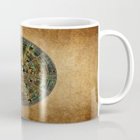 calendar Mugs featuring Ancient Calendar by Klara Acel