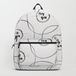 Hey You Circle - Ink Backpack