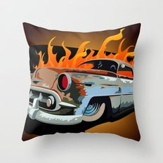 Caddy Rat Rod Throw Pillow