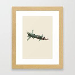 sky writing Framed Art Print