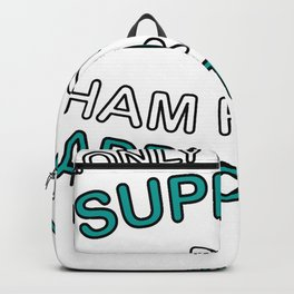I Only Work To Support Ham Radio Addiction Backpack
