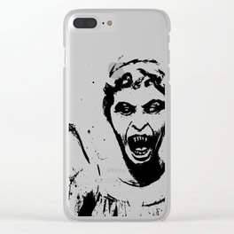 Weeping Angel Watercolor Clear iPhone Case