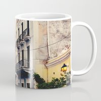 puerto rico Mugs featuring Colorful Buildings of Old San Juan, Puerto Rico by Kim Fearheiley Photography