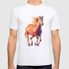 Horse // Boundless Ash Grey Mens Fitted Tee MEDIUM