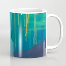 Abstract Water Painting of Dripping Sunshine and Blue Lagoons Coffee Mug