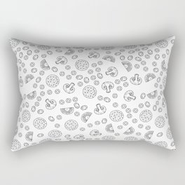 Pizza Pattern | Fast Food Cheese Italian Rectangular Pillow