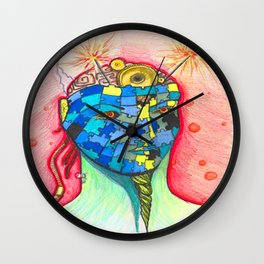 Puzzling Thoughts Wall Clock