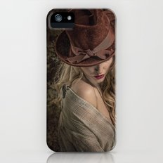 Blonde in the hat Slim Case iPhone (5, 5s)