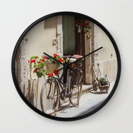 Bicycle in Syracuse Wall Clock