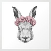 hare Art Prints featuring Hare  by Victoria Novak