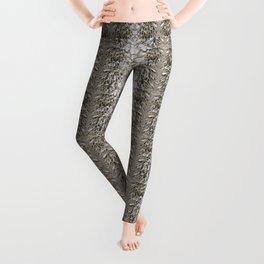Beige brown abstract pattern Leggings
