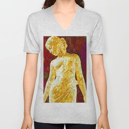 Curve 22: Roman love goddess crushed glass mosaic Unisex V-Neck