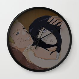 Naruhina in bed Wall Clock