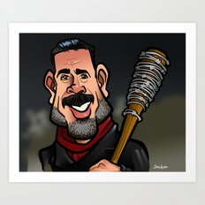 Negan and Lucille Art Print