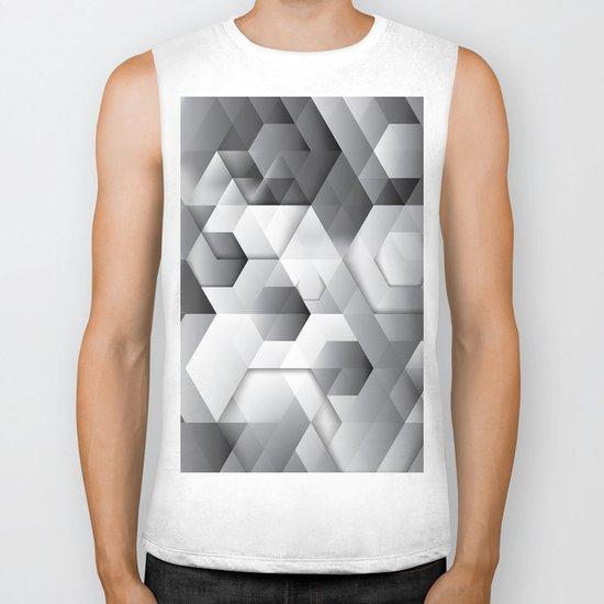 Black geometrics Biker Tank