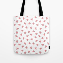 Crazy Happy Uterus in White, small repeat Tote Bag