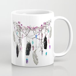 Raven Feathers And Roses Crystal Spirit Gazer Coffee Mug