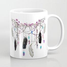 Raven Feathers And Roses Crystal Spirit Gazer Coffee Mug