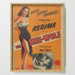The She-Wolf Classic Movie Poster Serving Tray