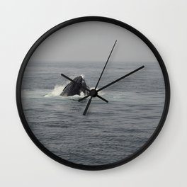 Whale Eating Wall Clock