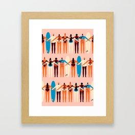 Surf sisters Framed Art Print