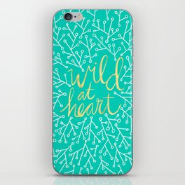 Wild at Heart – Turquoise iPhone Skin