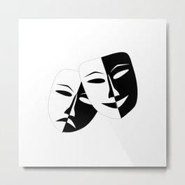 Comedy & Tragedy Drama Masks Metal Print