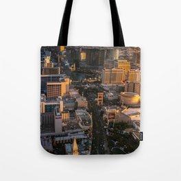 Sunset over Las Vegas Strip Tote Bag
