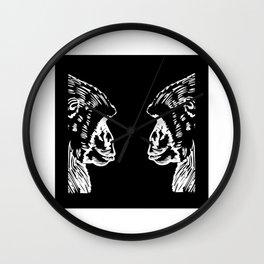 Monkey Silhouette Gift Idea Design Motif Wall Clock