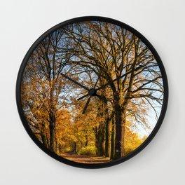 Autumn in Dolina Baryczy Wall Clock