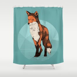 Ice Fox  Shower Curtain