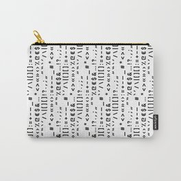 Typography Special Characters Pattern #1 Carry-All Pouch