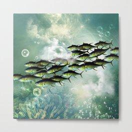Fish shoal Metal Print