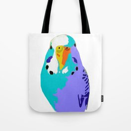 Parakeet Budgie Bird Colorized Tote Bag