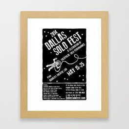 Dallas Solo Fest 2014 Poster Framed Art Print