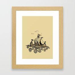 Viking ship 2 Framed Art Print