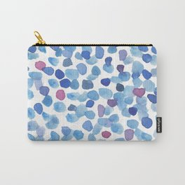 Blue and Purple Watercolor Drops Carry-All Pouch