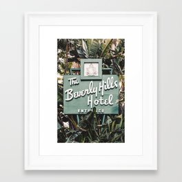 The Beverly Hills Hotel - Vertical Framed Art Print