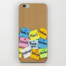 THANK YOU , MERCI, GRAZIE iPhone & iPod Skin