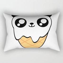 Panda Ice Cream Cone Big Eyes Kawaii Japan Inspired T-Shirt Rectangular Pillow