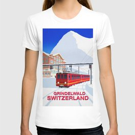 Grindelwald Ski Poster T-shirt