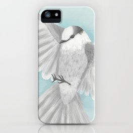 Gray Jay in Flight iPhone Case